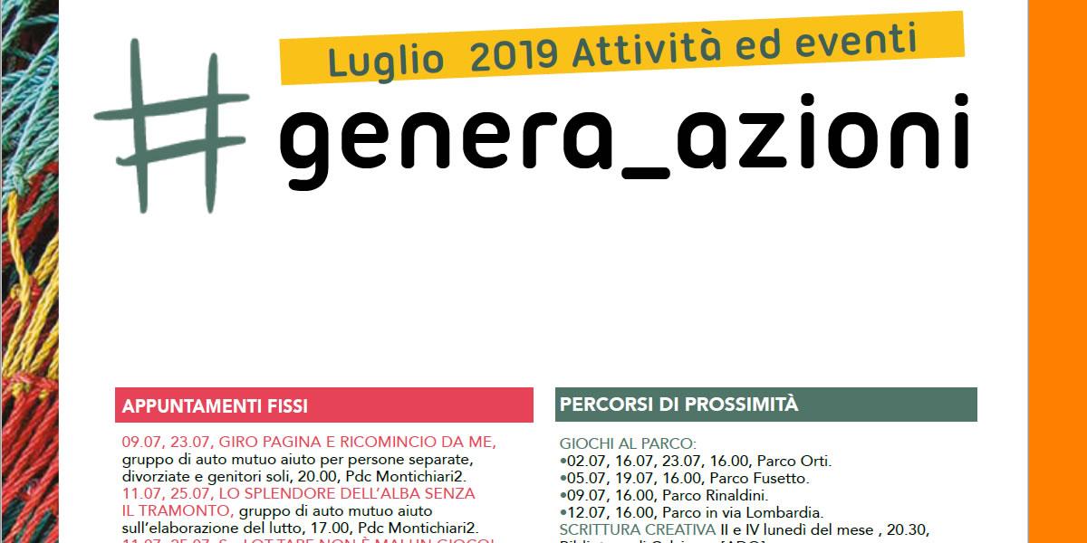 Pagina Di Calendario Luglio 2019.Laboratori Percorsi Ed Eventi Del Mese Di Luglio